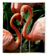 Flamingo Heart Fleece Blanket