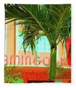 Flamingo Plaza Fleece Blanket