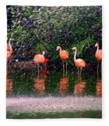 Flamingos II Fleece Blanket