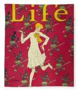 Flapper Cover, 1926 Fleece Blanket