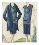 Flappers In Frocks And Coats, 1928  Fleece Blanket