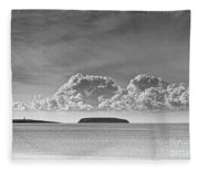 Flat Holm And Steep Holm Mono Fleece Blanket