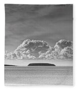 Flat Holm And Steep Holm Mono Fleece Blanket