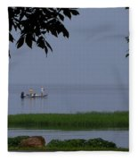 Flat Water Fishing Fleece Blanket