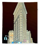 Flatiron Building Inverted Fleece Blanket
