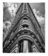 Flatiron Building  Nyc Black And White Fleece Blanket