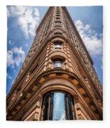 Flatiron Building Nyc Color Fleece Blanket