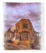 Flatiron Building Of Jerome Arizona Fleece Blanket