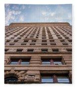 Flatiron Building Sky Color Fleece Blanket