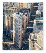 Flatiron Building Fleece Blanket
