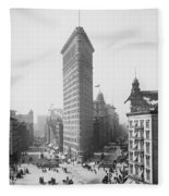 Flatiron Building - Vintage New York - 1902 Fleece Blanket