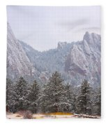 Flatirons From The South Boulder Colorado Fleece Blanket