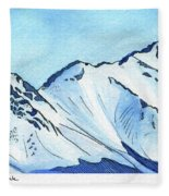 Flattop Through Ptarmigan Peak, Alaska Fleece Blanket