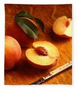 Flavorcrest Peaches Fleece Blanket