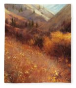 Flecks Of Gold Fleece Blanket