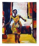 Fleeting Woman Fleece Blanket
