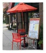 Flemington, Nj - Sidewalk Cafe Fleece Blanket