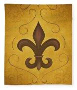 Fleur De Lis II Fleece Blanket
