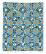 Fleur De Lis Pattern No. 2 Fleece Blanket