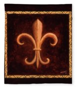 Fleur De Lys-king Louis Vii Fleece Blanket