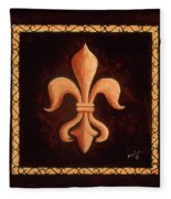Fleur De Lys-king Louis Xv Fleece Blanket
