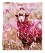 Fleur De Sheep Fleece Blanket