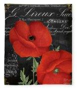 Fleur Du Jour Poppy Fleece Blanket