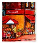 Fleuriste Bernard Florist Montreal Fleece Blanket