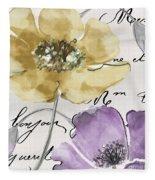 Fleurs De France II Fleece Blanket