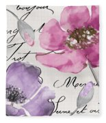 Fleurs De France IIi Fleece Blanket