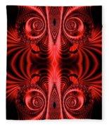 Flight Of Fancy Red Fleece Blanket