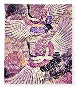 Flight Of Lovers - Kimono Series Fleece Blanket