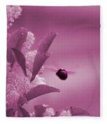 Flight Of Princess Bumble Bee Fleece Blanket