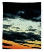 Flight Of The Geese Fleece Blanket