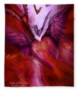 Flight Of The Heart Fleece Blanket
