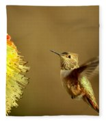 Flight Of The Hummer Fleece Blanket