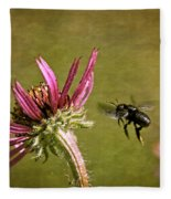 Flight Of The Mason Bee Fleece Blanket