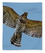 Flight Of The Red Shouldered Hawk Fleece Blanket