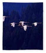 Flight Of The Swans Fleece Blanket