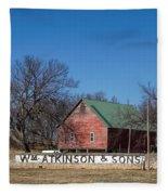 Flint Hills Barn Fleece Blanket