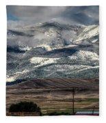 Flint Ridge Range, Deer Lodge, Mt Fleece Blanket