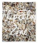 Flip Flop Zone Seashell Background Fleece Blanket