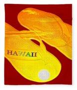 Flip Flops Kona Sunset Fleece Blanket