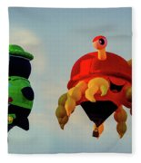 Floating Aerial Photographer And The Smiling Crab Fleece Blanket