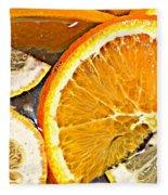Floating Citrus Fleece Blanket