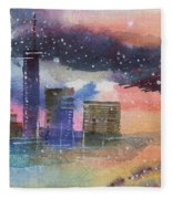 Floating City Fleece Blanket