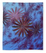 Floating Floral - 001 Fleece Blanket