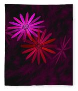 Floating Floral - 006 Fleece Blanket