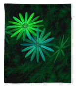 Floating Floral-007 Fleece Blanket