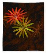 Floating Floral-008 Fleece Blanket